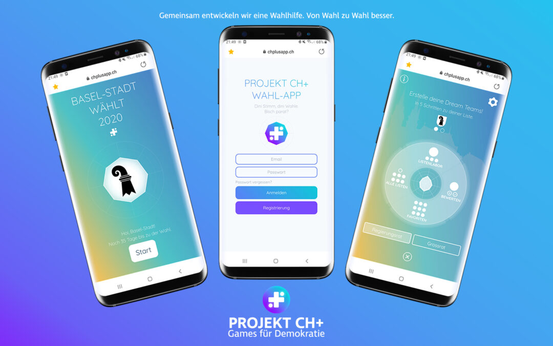Projekt CH+ Games für Demokratie Games for Democracy Wahl-App Wahlen Basel-Stadt