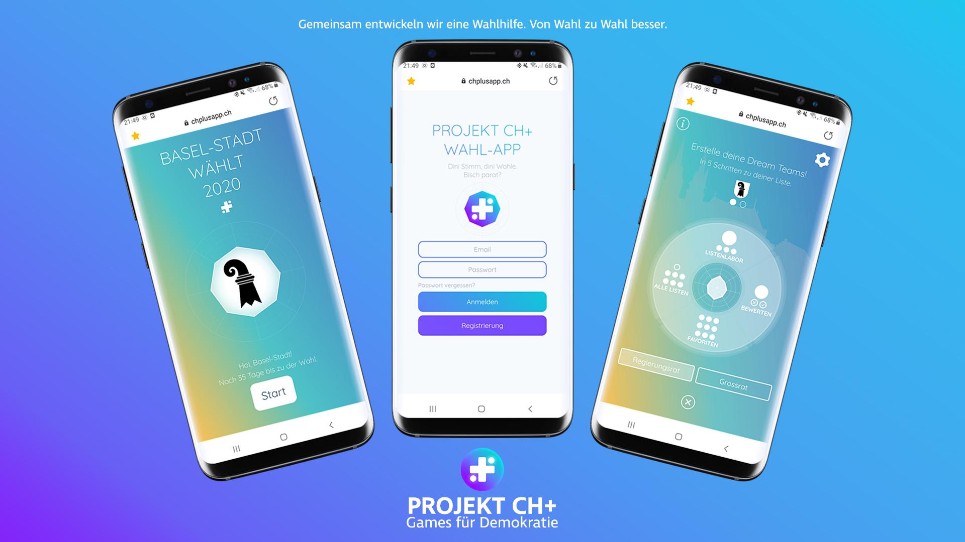 Projekt CH+ Games für Demokratie Games for Democracy Wahl-App Wahlen Basel-Stadt