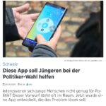 Projekt CH+ Games für Demokratie Games for Democracy Wahl-App Wahlen Basel-Stadt Telebasel